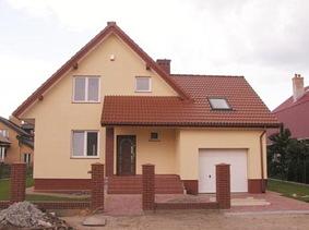 Одноэтажный дом с гаражом из пеноблоков