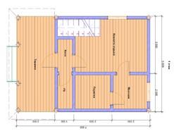 Двухэтажная баня с верандой 5х7