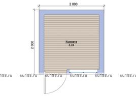 Хозблок со сборкой на участке 2х2
