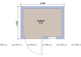 Хозблок со сборкой на участке 2х1.5