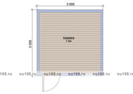 Бытовка хозблок 3х3 двухскатная крыша