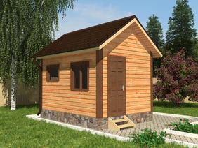 Баня деревянная 3х4