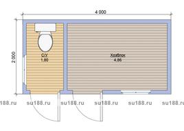 Дачный туалет хозблок 2х4