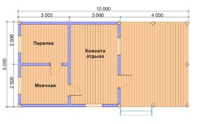 Баня с террасой 5х10
