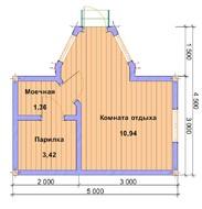 Баня из профилированного бруса 5х3
