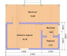 Баня из профилированного бруса 5х6