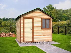 Деревянный хозблок 3х3 двухскатная крыша