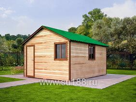 Деревянный хозблок 4х5 с двухскатной крышей