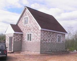 Дачный дом 4х6 из пеноблоков
