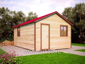 Хозблок садовый 6х4 двухскатная крыша