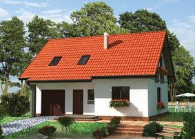 Дом из пеноблоков 6х9 с мансардой