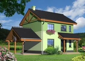 Дом 7х7 двухэтажный из пеноблоков